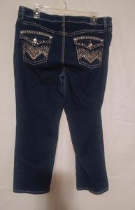 Apt. 9 Capri Jeweled Flap Pocket Jeans 14 Plus